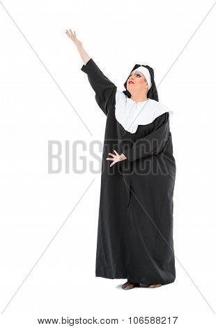 Actor Drag Queen Dressed As Nun