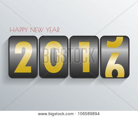 Happy New Year 2016 Background Mechanical Timetable .vector/illustration.