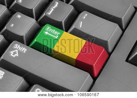 Enter Button With Mali Flag