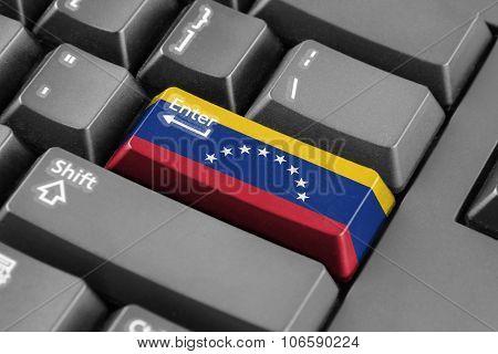 Enter Button With Venezuela Flag