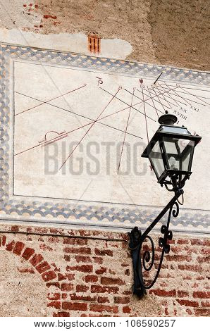 Sundial Over A Wall