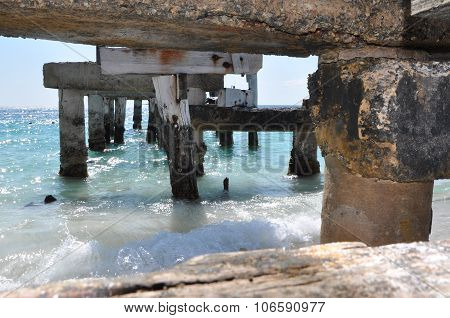 A View Through an Abandoned Jetty: Jurien Bay