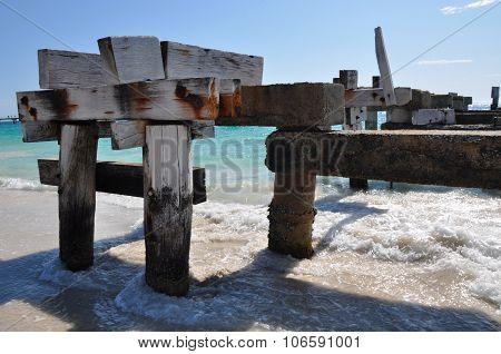 Abandoned Jetty Closeup in Jurien Bay, Western Australia