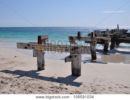 Abandoned Jetty Angle: Jurien Bay, Western Australia