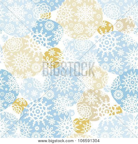 Vector Seamless Pattern With Snowflakes, Snowballs.