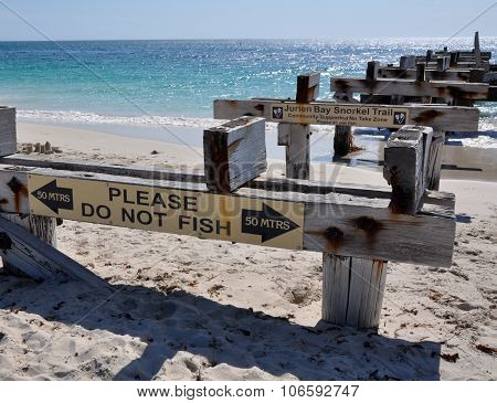 Jurien Bay Abandoned Jetty: Ocean Perspective