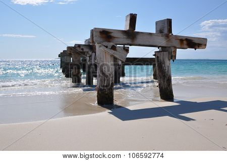 Jurien Bay Abandoned Jetty: Casting a Shadow