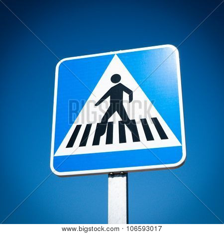 Pedestrian Crosswalk traffic road sign