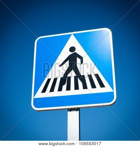 Pedestrian Crosswalk traffic road sign