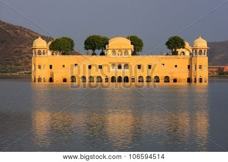 Jal Mahal And Man Sagar Lake In Jaipur, Rajasthan, India.