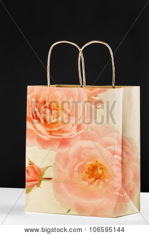 Decorative Brown Paper Bag