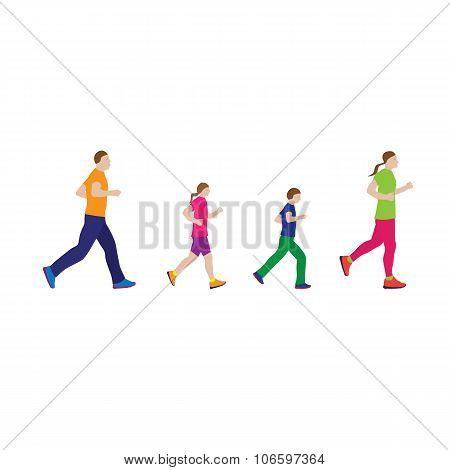 Running Family. Family Sports.