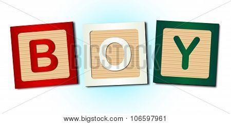 Boy Word Blocks