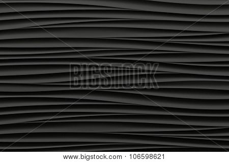 background of black 3d abstract waves