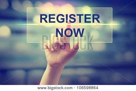 Hand Pressing Register Now