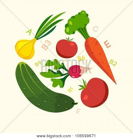 Healthy food vegetables cellulose vitamins.