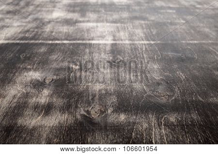 Old Dark Grungy Plywood With Brown Mordant Layer