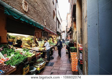 Vegetable Shop In Bologna