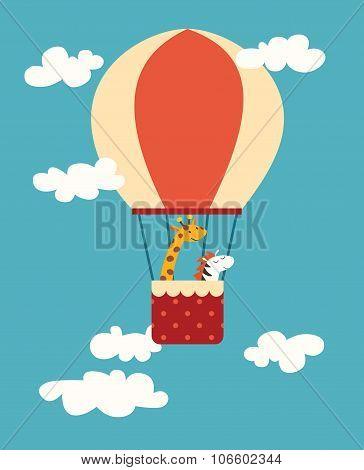 Air balloon animals print.