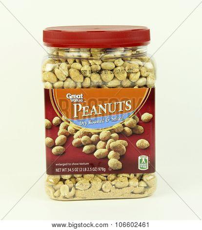 Jar Of Great Value Peanuts