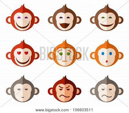 Monkeys, Different Emotions C...