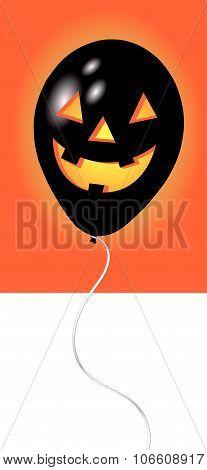 A black halloween balloon