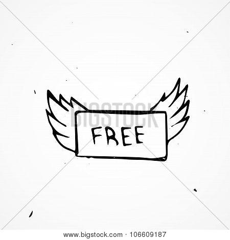 Hand Drawn Free Sign