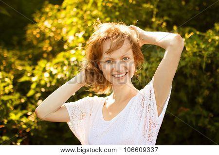 Portrait Of Joyful Girl