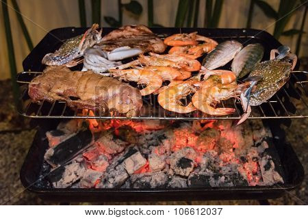 Sea Food And Pork Barbeque