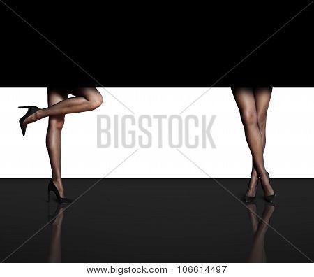 Two Woman's Legs
