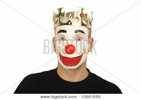 Clown surprised