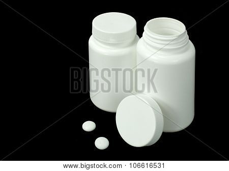 Two White Pills With Two White Jar