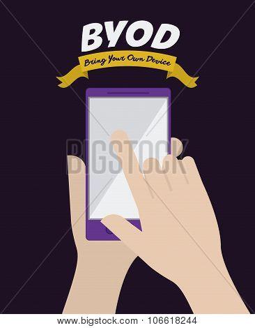BYOD Design , vector illustration