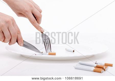 Do not smoke nicotine and be healthy