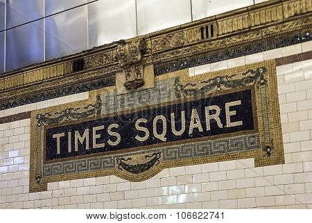 Times Square Subway Station In Manhattan