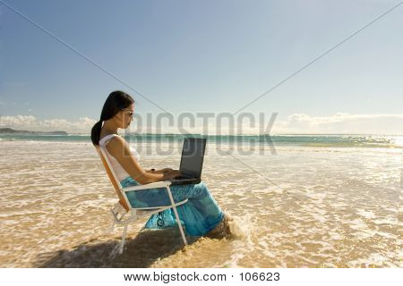 Woman Working Outdoor