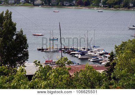 Boats Docked at Walstrom Marine
