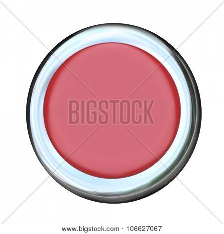 Round red button for start or ignition of car, vehicle or automobile