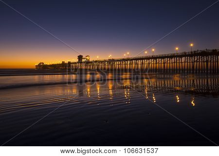 Brilliant Beach Sunset With Pier