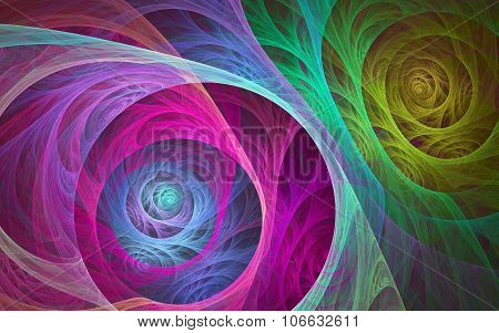 Colorful Spiral Fibers