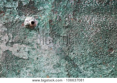 Pipe In Green Wall