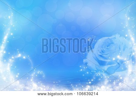 Blue Rose In Water
