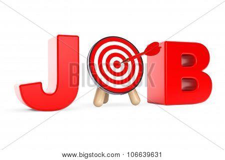 Darts Target As Job Sign