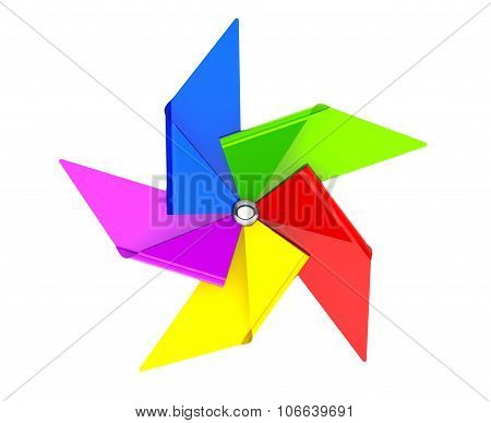 Colored Toy Pinwheel Windmill