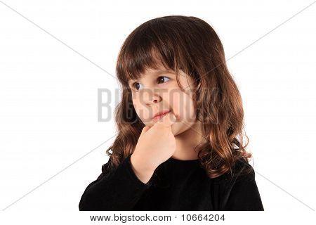 Little Thinking Girl