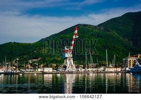 Port on the seashore.
