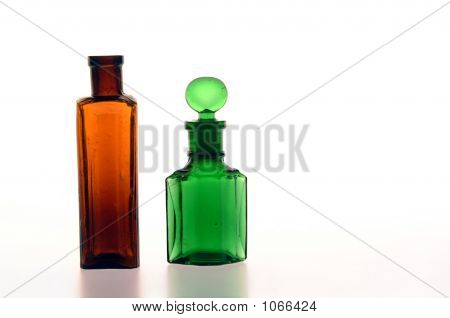 Brown And Green Bottle