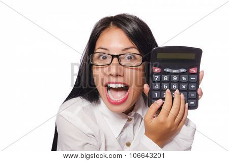 Young woman in business concept