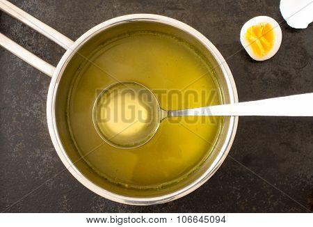 Broth In A Saucepan