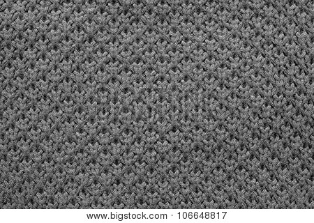 Knitted Honeycomb Texture Of Black Color